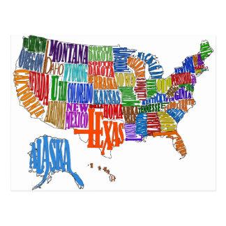 US Map Postcards