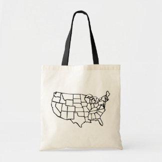 US Map Tote Bag