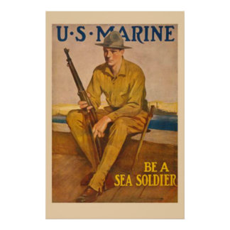 US Marine-Be A Sea Soldier Posters