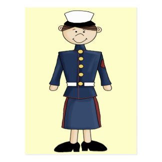 US Marine Corp Girl Postcard