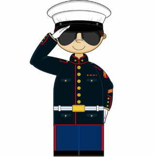 US Marine Corp NCO Saluting Sculpture Acrylic Cut Outs