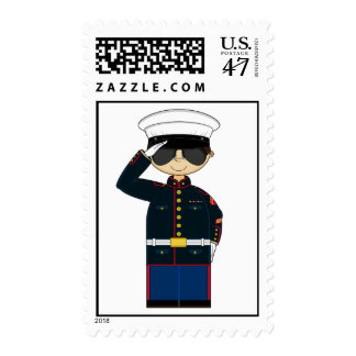 US Marine Corp NCO Saluting Stamp