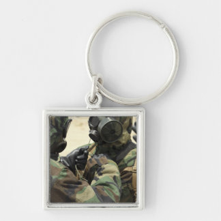 US Marine Corps reservists in camouflage Keychain