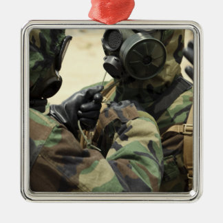 US Marine Corps reservists in camouflage Metal Ornament