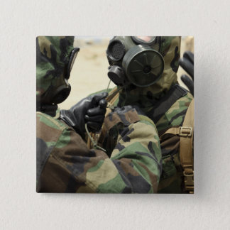 US Marine Corps reservists in camouflage Pinback Button