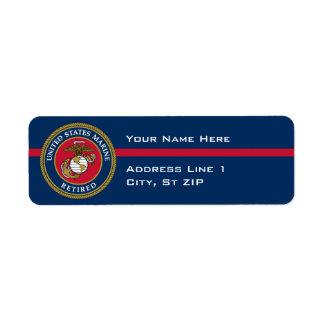 US Marine Corps - Retired Blue Label