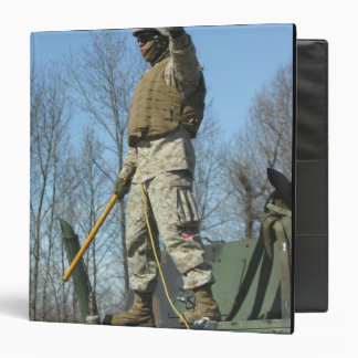 US Marine Corps Sergeant gives the thumbs up Binder
