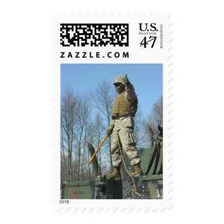 US Marine Corps Sergeant gives the thumbs up Postage Stamp