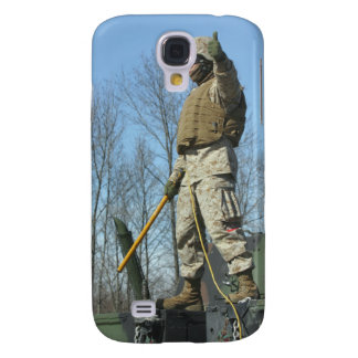 US Marine Corps Sergeant gives the thumbs up Samsung Galaxy S4 Case
