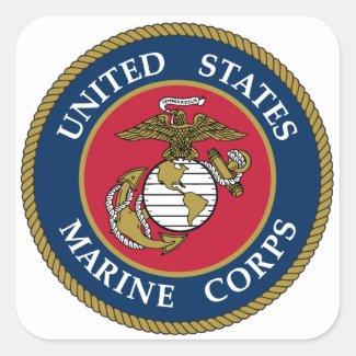 US Marine Corps Sticker Blue