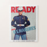 """US Marine Corps Vintage """"Ready"""" Poster Puzzle"""