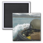 US Marine driving an amphibious assault vehicle 2 Inch Square Magnet