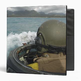 US Marine driving an amphibious assault vehicle 3 Ring Binder