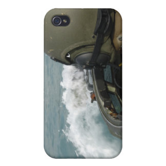 US Marine driving an amphibious assault vehicle Cover For iPhone 4