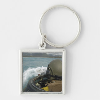 US Marine driving an amphibious assault vehicle Keychain
