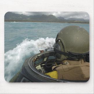 US Marine driving an amphibious assault vehicle Mouse Pad