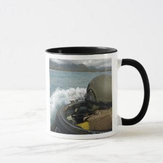 US Marine driving an amphibious assault vehicle Mug