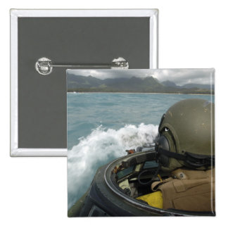 US Marine driving an amphibious assault vehicle Pinback Button