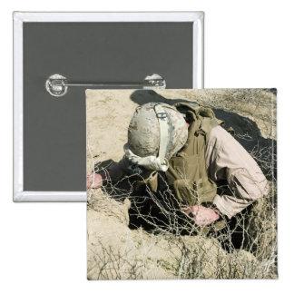US Marine jumps down a hole Pin