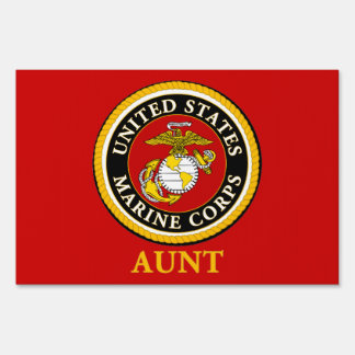 US Marine Official Seal - Aunt Signs