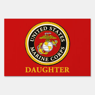 US Marine Official Seal - Daughter Signs