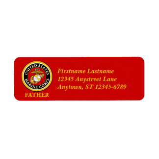 US Marine Official Seal - Father Label