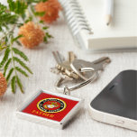 US Marine Official Seal - Father Silver-Colored Square Keychain