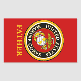 US Marine Official Seal - Father Rectangular Sticker