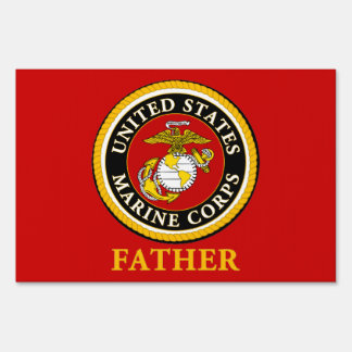 US Marine Official Seal - Father Yard Signs