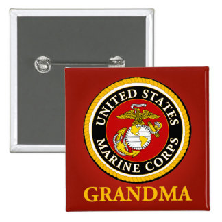 US Marine Official Seal - Grandma Pinback Buttons