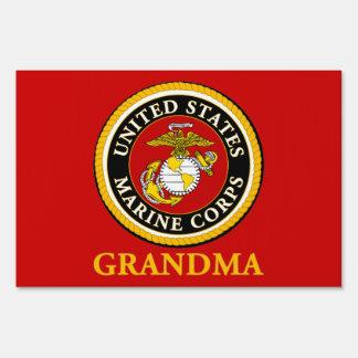 US Marine Official Seal - Grandma Yard Sign