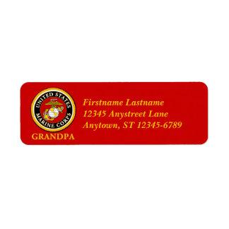 US Marine Official Seal - Grandpa Label