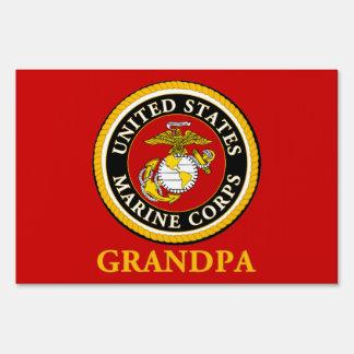 US Marine Official Seal - Grandpa Yard Sign