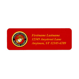 US Marine Official Seal Label