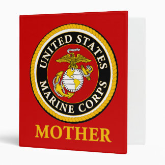 US Marine Official Seal - Mother 3 Ring Binder