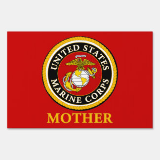US Marine Official Seal - Mother Lawn Sign