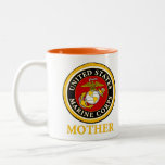 US Marine Official Seal - Mother Two-Tone Coffee Mug
