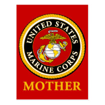 US Marine Official Seal - Mother Postcard