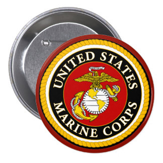 US Marine Official Seal Pinback Button