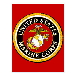 US Marine Official Seal Postcard