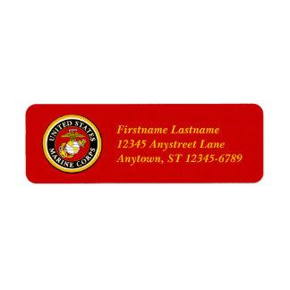 US Marine Official Seal Return Address Label