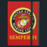 """US Marine Official Seal - Semper Fi Cover For iPad Air<br><div class=""""desc"""">For the Active Duty,  Veteran,  or Family Member who is just so proud of their United States Marine! Available on hats,  mugs,  buttons,  t-shirts and other great gifts.</div>"""