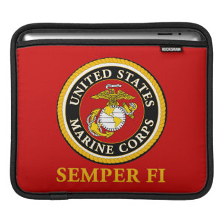 US Marine Official Seal - Semper Fi iPad Sleeve