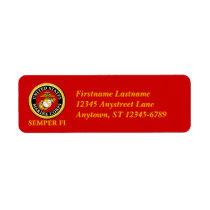 US Marine Official Seal - Semper Fi Label