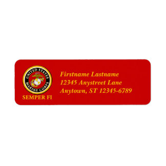 US Marine Official Seal - Semper Fi Label