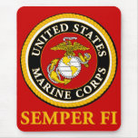 US Marine Official Seal - Semper Fi Mouse Pads