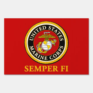 US Marine Official Seal - Semper Fi Sign