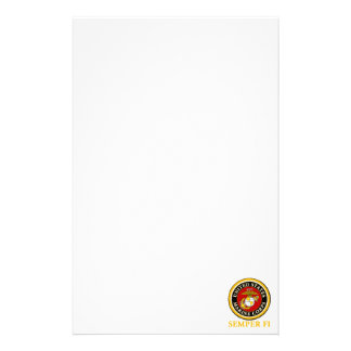 US Marine Official Seal - Semper Fi Stationery