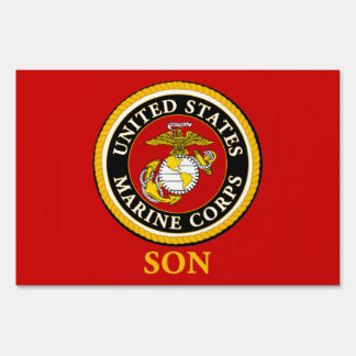 US Marine Official Seal - Son Lawn Signs