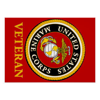US Marine Official Seal - Veteran Poster